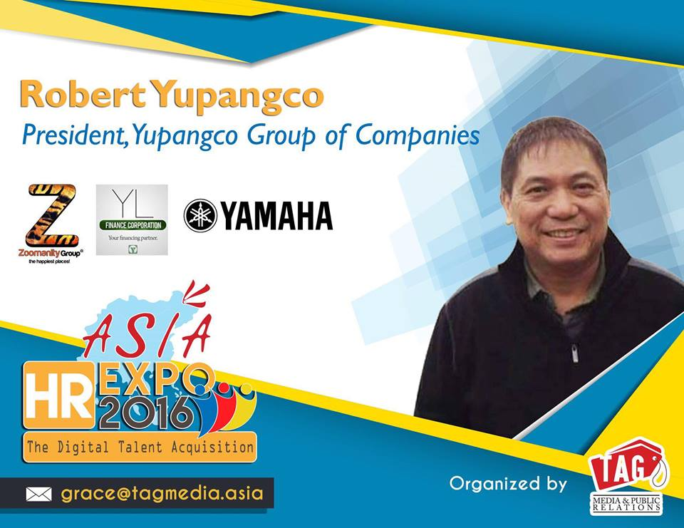 Robert Laurel Yupangco for Asia HR Expo 2016