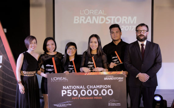 UP Visayas Student Team Wins L'Oréal Business Competition